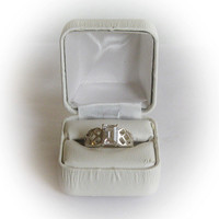 Sterling Silver 2 Carat Emerald Cut CZ Engagement Ring