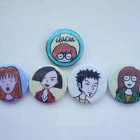 Daria badges pins buttons. by SuckyBadges on Etsy