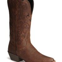 Justin Stampede Western Cowgirl Boots with Rubber Sole - Snip Toe - Sheplers