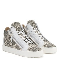 Giuseppe Zanotti Gz Kriss Multicolour Printed Fabric Mid-top Sneaker