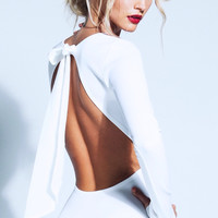 BACKLESS BOW DRESS
