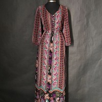 Forever 21 Floral Modest Full Length Dress, Size Small