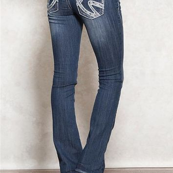 Harlow Baby Boot Wavy V Premium Jeans