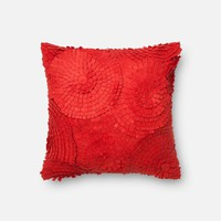 Loloi Red Decorative Throw Pillow (P0221)