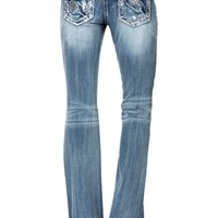 Miss Me Abstract Relaxed Boot Cut Jean - Belk.com