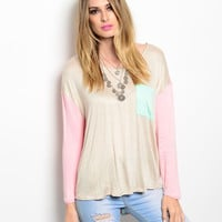Oversized Sheer Knitted Long-sleeve Top