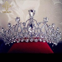TREAZY Gorgeous Sparkling Silver Plated Crystal Hair Accessories