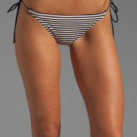 Marc by Marc Jacobs Stripey Mademoiselle Danger Side Tie Euro Bottom in Ink Blue from REVOLVEclothing.com