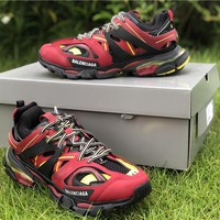 2019 Balenciaga Triple S Trainers Red/Black/Yellow Sneakers 35-45