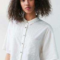 Silence + Noise Cropped Button-Down Blouse - Urban Outfitters