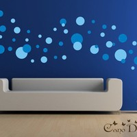 Polka Dots 2 Colors 5 Sizes Vinyl wall decals by canodesigns