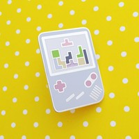 Pastel Gameboy Tetris Enamel Pin
