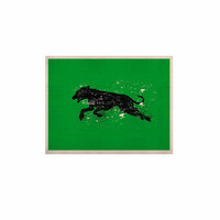 """BarmalisiRTB """"Black Dog"""" Green Animal KESS Naturals Canvas (Frame not Included)"""