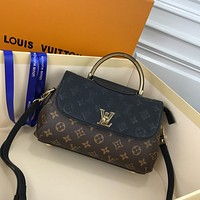 LV Louis Vuitton WOMEN'S MONOGRAM CANVAS HANDBAG INCLINED SHOULDER BAG