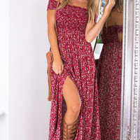 Daytime Dancer maxi dress in red print