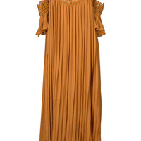Cupshe Point Me at the Sky Pleated Maxi Dress