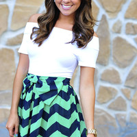 Never Felt Classier Skirt: Chevron | Hope's