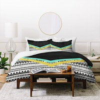 Allyson Johnson Mixed Aztec 1 Duvet Cover