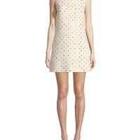 Valentino Sleeveless Polka-Dot Crepe Couture Dress