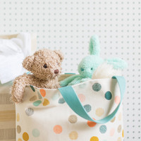Color dots soft hamper with handle