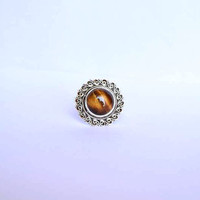 Tiger eye ring,  stone ring, silver ring, silver tiger eye ring, 92.5 sterling silver, tiger eye Silver Ring,  RNSLTE203