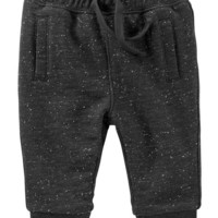 Jersey-Lined French Terry Pants