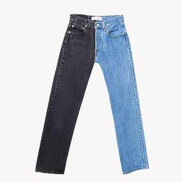 Perfecto Two Tone Vintage High Waisted Jeans