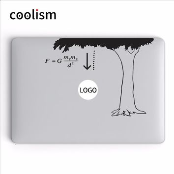 Newton The Law of Gravity Humor Laptop Decal for Apple MacBook Air 13 Sticker Pro Retina 11 12 15 inch Mac HP Dell Mi book Skin