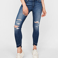 Mid Rise Distressed Stretch+ Performance Ankle Jean Leggings