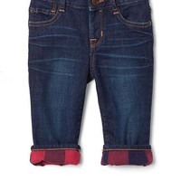 1969 my first plaid-lined straight jeans | Gap
