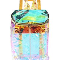 Iridescent Bucket Backpack