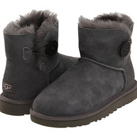 UGG Mini Bailey Button Grey - Zappos.com Free Shipping BOTH Ways