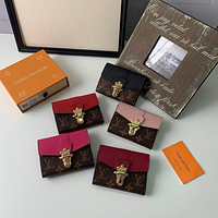 LV Louis Vuitton MONOGRAM CANVAS CLAPTON WALLET
