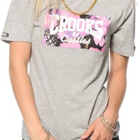 Crooks and Castles Flower Bomb Grey T-Shirt