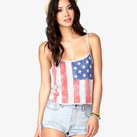 Cropped American Flag Cami