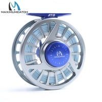 Maximumcatch 7/8wt Fly Reel with 100FT WF8F Weight Forward Floating Sea Fishing Fly Line with Backing Line Kit