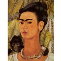 Self-Portrait with Monkey, 1938 Art Poster Print by Frida Kahlo, 16x20 Art Poster Print by Frida Kahlo, 16x20
