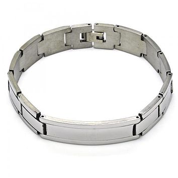 Stainless Steel 03.114.0288.08 ID Bracelet, Polished Finish, Steel Tone