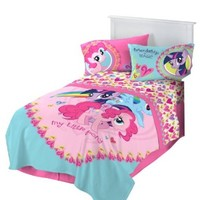 Hasbro Microraschel Blanket, 62-Inch by 90-Inch, My Little Pony I Heart Ponies