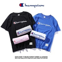 Champion  Hot Sale Fashion Embroidery (6-color) Tee Shirt Top