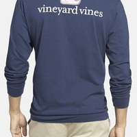 Men's Vineyard Vines Logo Pocket Long Sleeve Crewneck T-Shirt,