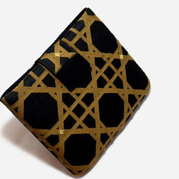 Hand Crafted Tablet Case from Black and Gold Geometric Fabric/Case for: iPadMini, Kindle Fire 7,Samsung Galaxy 7, Google Nexus,  Nook HD 7