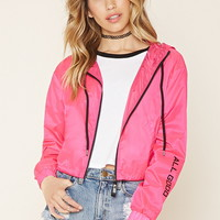 All Good Graphic Windbreaker | Forever 21 - 2000202985