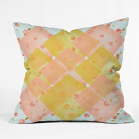 Hello Twiggs Spring Flowers Outdoor Throw Pillow