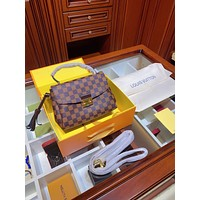 LV Louis Vuitton Women Leather Shoulder Bag Satchel Tote Bag Handbag Shopping Leather Tote Crossbody Satchel Shouder Bag