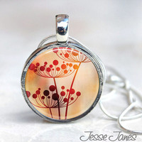 Dandelion Magnetic Necklace Interchangeable, Nature, Leaves, dandelion interchangeable, magnetic necklace with 6 different looks, toppers