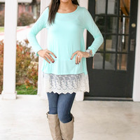 In the Details Tunic - Mint