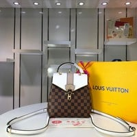 LV Louis Vuitton WOMEN'S DAMIER CANVAS CLAPTON BACKPACK BAG