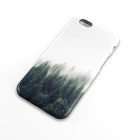 Forest in the fog cell phone case, woods, nature, Apple iphone, Samsung Galaxy, Note, 6, 6 plus, 5, 4 etc