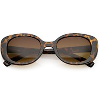 Women's Retro Rounded 1950's Thick Frame Sunglasses C556